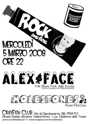 alex face flyer